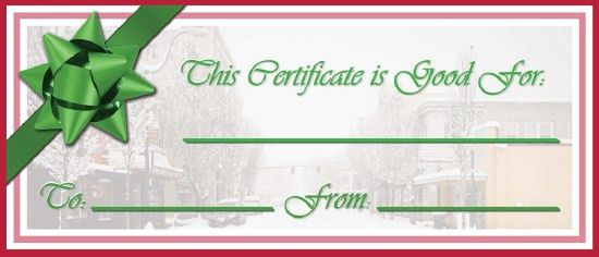 Waste-Free Gift Certificates