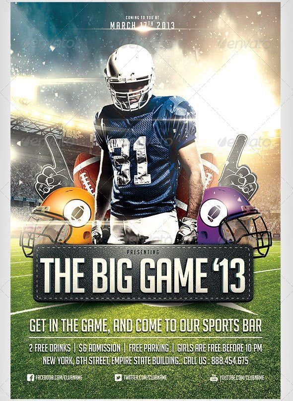 12 Great Games Sport Flyer Templates – Design Freebies