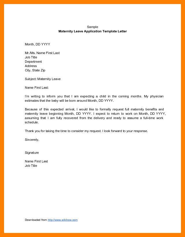 5+ maternity leave application letter for office | cv for teaching