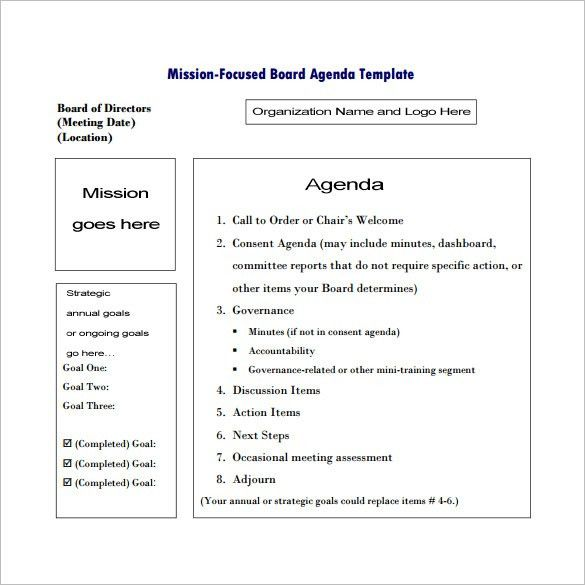 9+ Meeting Outline Templates – Free Word, PDF Documents Download ...