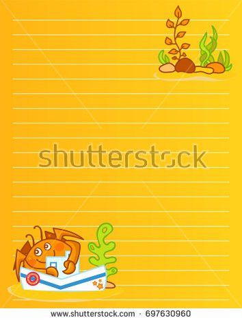 Vector Printing Paper Note Cute Paper Stock Vector 703410346 ...