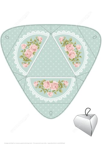Handmade Gift Box Template with Roses | Free Printable Papercraft ...