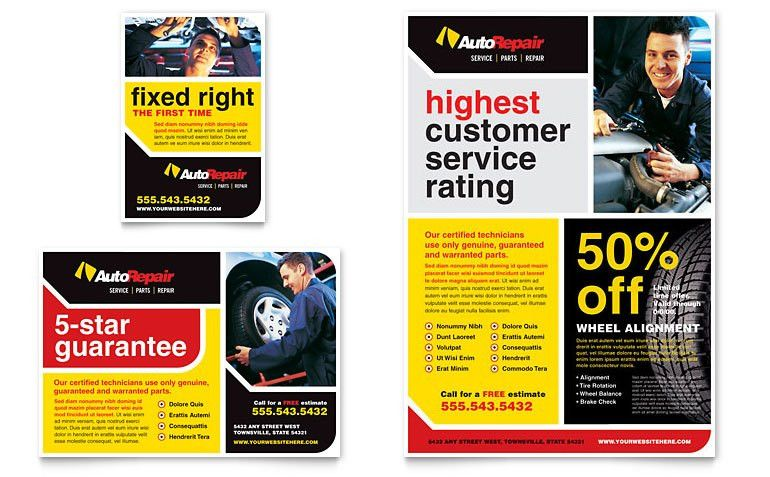 Auto Repair Flyer & Ad Template - Word & Publisher