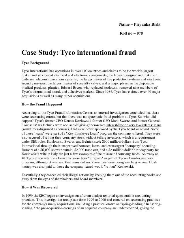 38299644 tyco-fraud-case-study-1
