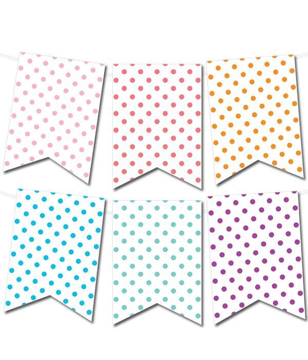 Free Printable Polka Dot Pennant Banner from printablepartydecor ...