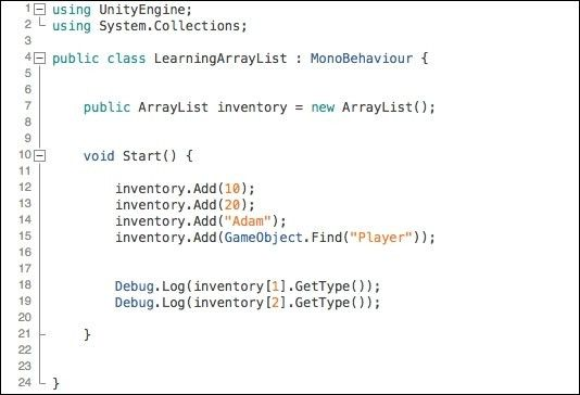 ArrayList - Learning C# by Developing Games with Unity 5.x ...