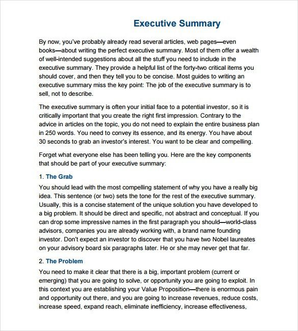 Executive Report Template. Answer The Basic Summarizing Questions ...