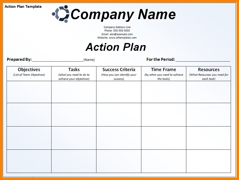 7+ corrective action plan template excel | job resumed