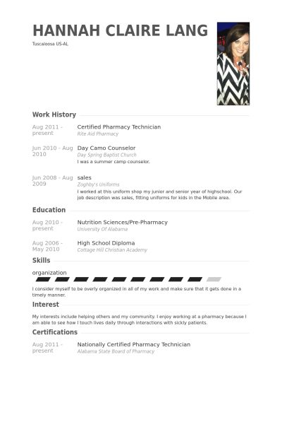 Certified Pharmacy Technician Resume samples - VisualCV resume ...