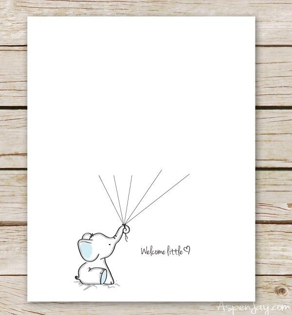 Elephant Baby Shower Guest Book Printable - Aspen Jay