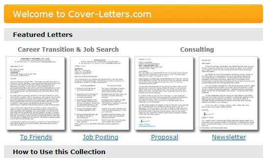 Cover Letters / Tools, Tips and Free Cover Letter Templates for ...