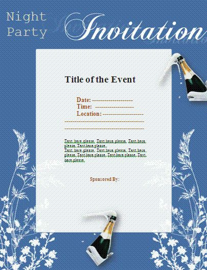 Examples Of Invitations Template | Best Template Collection