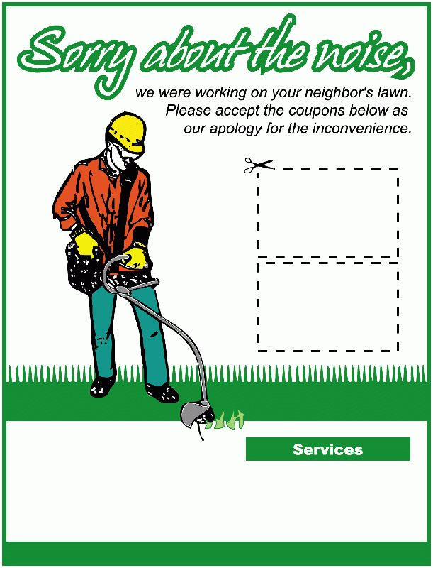 Lawn Service Business Invoice | Lawn service, Lawn and Business