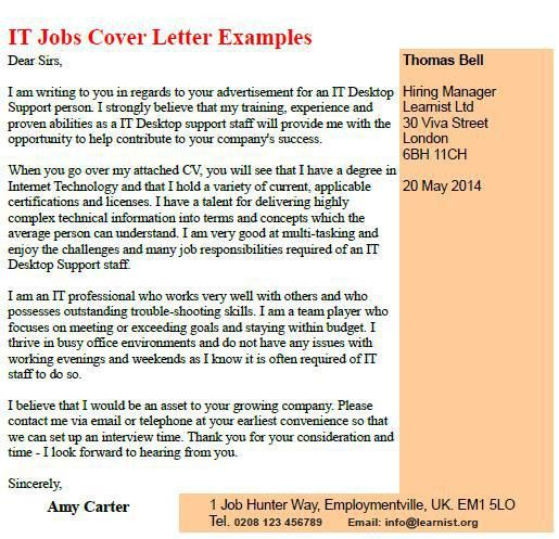 Download It Position Cover Letter | haadyaooverbayresort.com