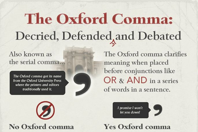 Grammar Girl : The Oxford Comma, in Pictures :: Quick and Dirty Tips ™