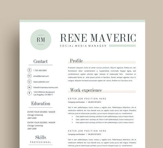 3page resume + FREE business cards + Cover letter + Reference page ...
