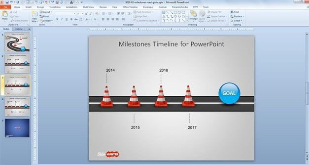 Free Milestone Shapes & Timeline for PowerPoint - Free PowerPoint ...
