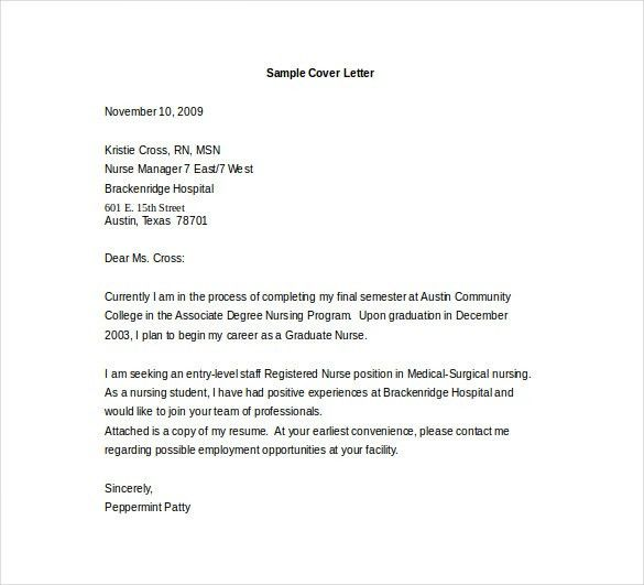 Cool Ideas Entry Level Cover Letter 16 Template 10 Free PDF ...
