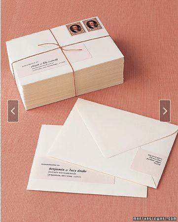 Martha Stewart wrap-around address labels template   Invitations ...