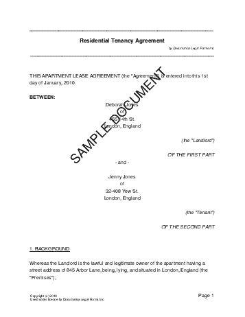 Residential Rental/Lease (United Kingdom) - Legal Templates ...