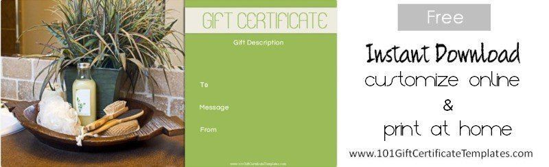 Spa Gift Certificates