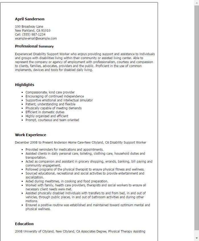 Home Worker Cover Letter