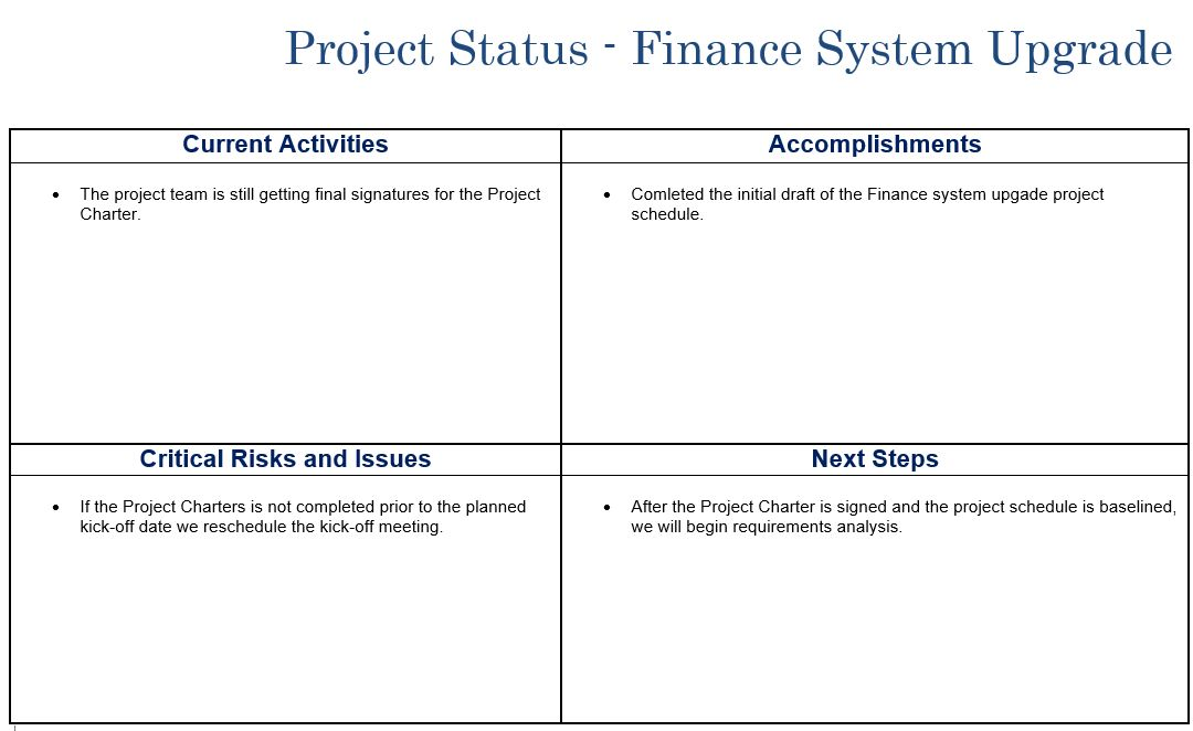 Multi-Project Status Report