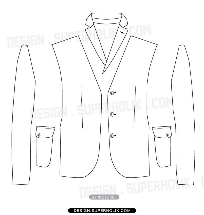 Fashion design templates, Vector illustrations and Clip-artsBlazer ...