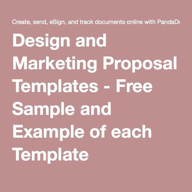 Best 25+ Marketing proposal ideas on Pinterest | Portfolio design ...