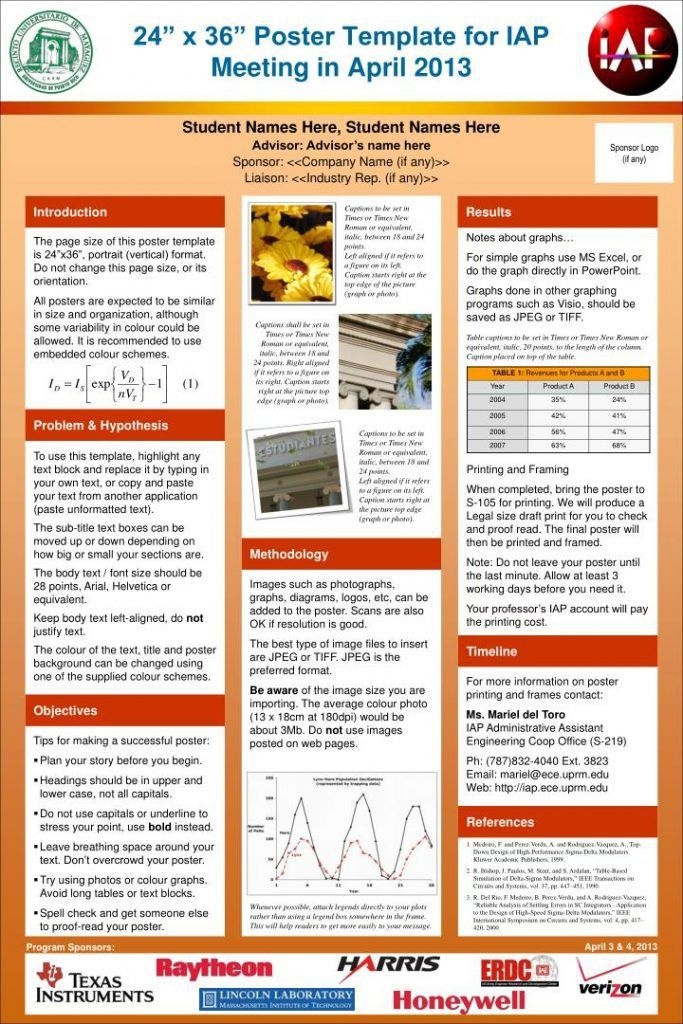 presentation poster template