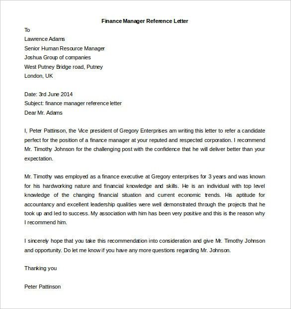 Finance Executive Cover Letter