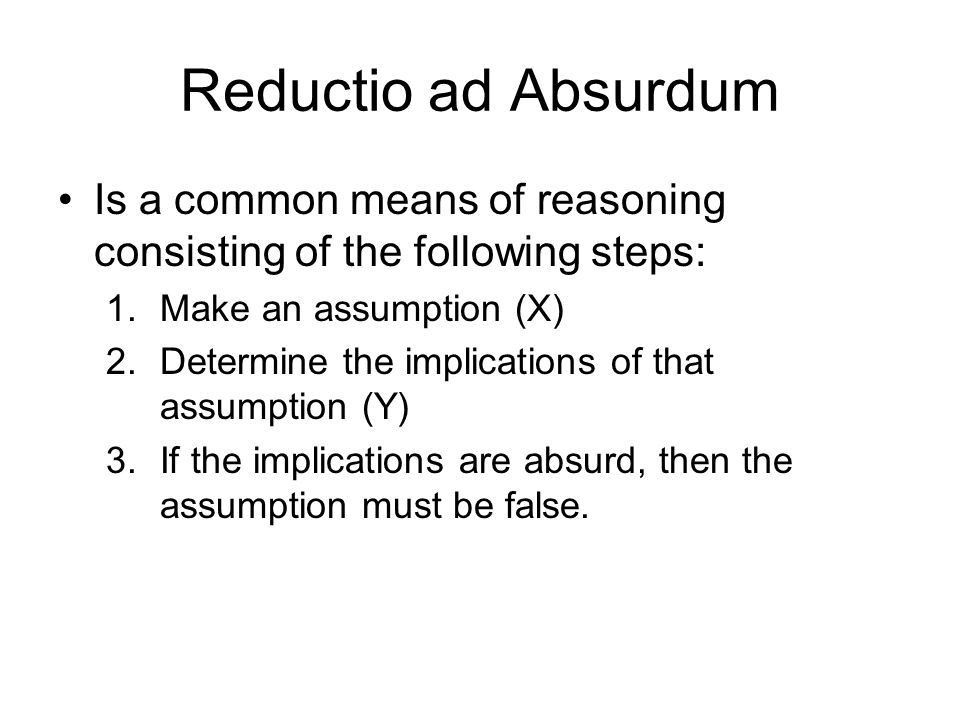 The Myth of the Computer April 11. Reductio ad Absurdum Is a ...