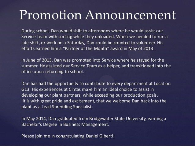 Promotion Announcement - Giberti - PDF