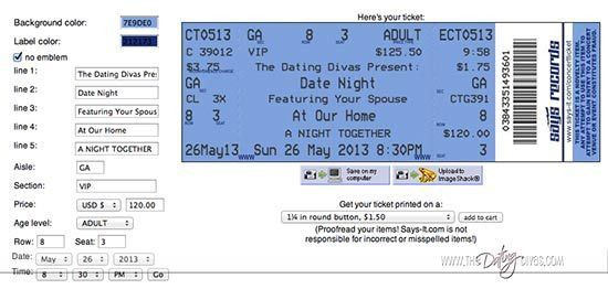 Concert Ticket Invite
