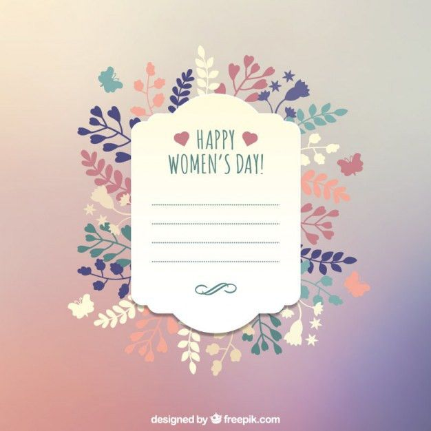 Happy Women's Day greeting card template Vector | Free Download