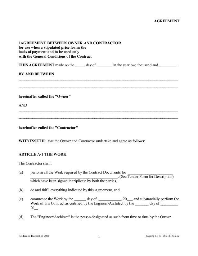 Work Contract Agreement. East Asia Crossing-Construction Contract ...
