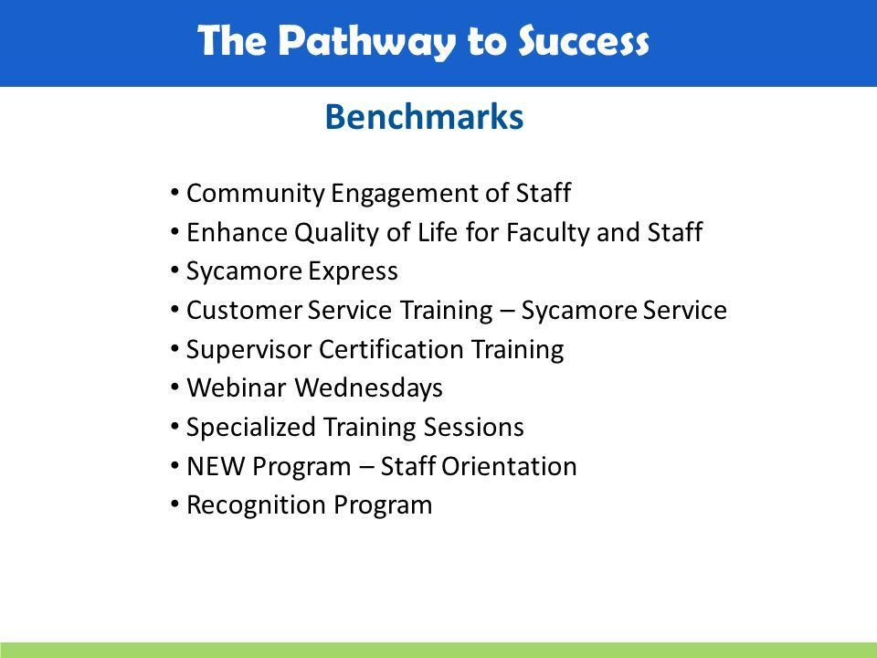 The Pathway to Success Enhance the Development of Staff Goal 6 ...