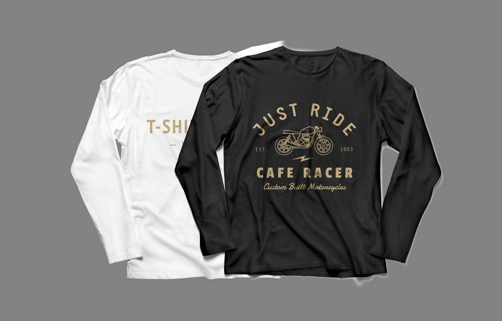 Long Sleeve T-Shirt (front & back) Mockup | MockupWorld