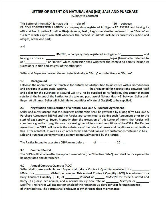 15+ Free Letter of Intent Templates - Free Sample, Example Format ...