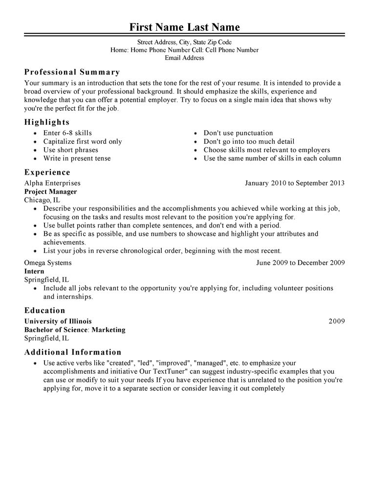 Download Sample Resume Formats | haadyaooverbayresort.com