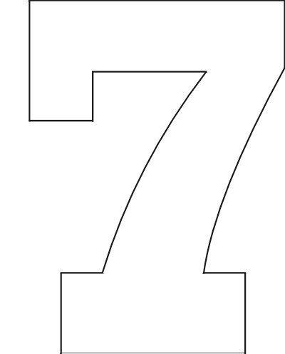 Number Stencils Set 1 | Printable letter stencils, Printable ...