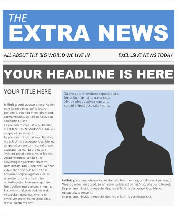 16+ Newspaper Templates - Free Sample, Example, Format | Free ...