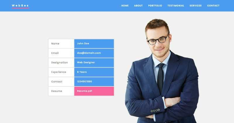 website resume templates 20 creative resume website templates to