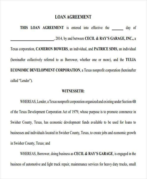 19+ Loan Agreement Form Templates | Free & Premium Templates