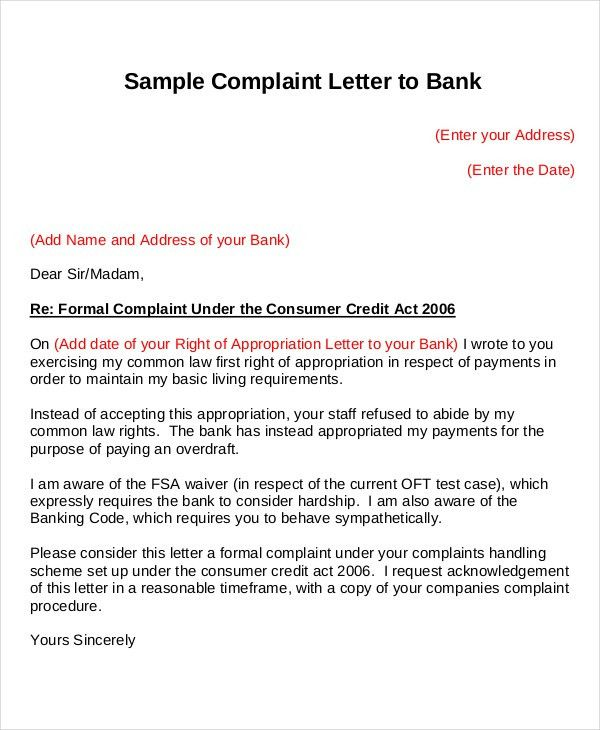 16+ Complaint Letters - Free Sample, Example Format | Free ...