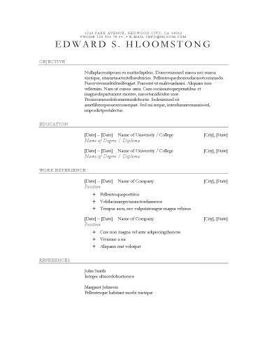 Performance - Free Resume Template by Hloom.com   useful materials ...