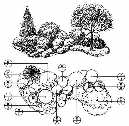 A whole bunch of free downloadable landscape plans! Borders, yards ...