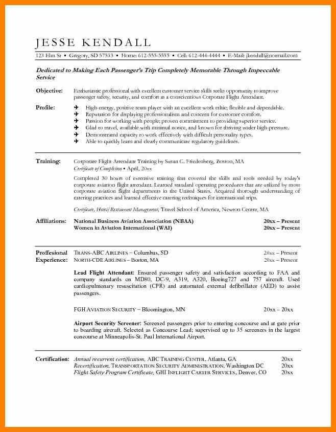 7 flight attendant resume sample character refence - Flight Attendant Resume Template