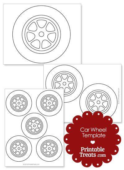 Printable Car Wheel Template — Printable Treats.com
