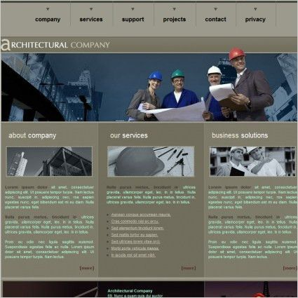 Architectural Company Template Free website templates in css, html ...